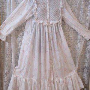 Vintage Cotton Floral Gunne Sax Style nightgown